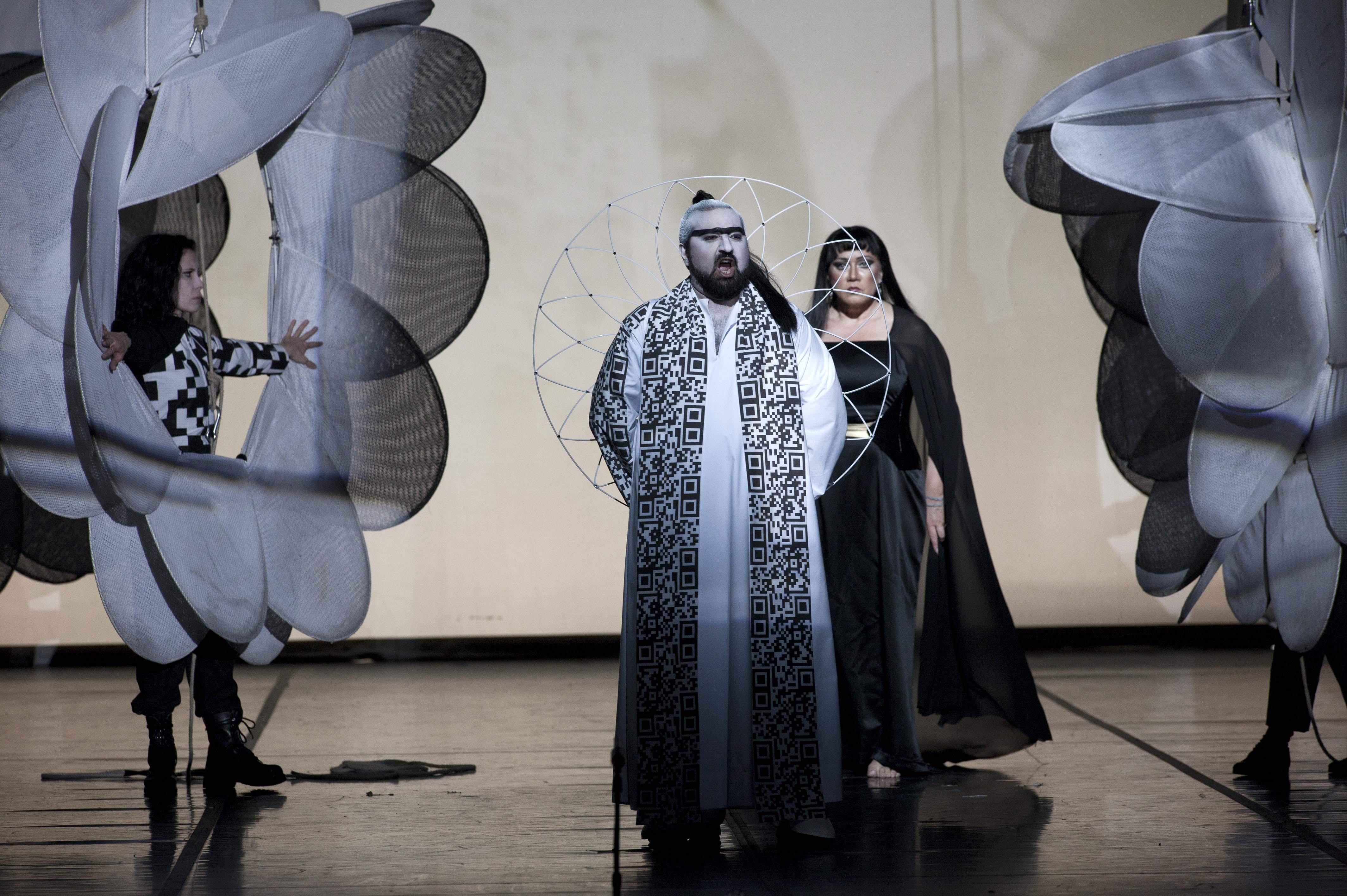 SAMSON ET DALILA Elchin Azizov(Gran Sacerdote di Dagone), Olga Borodina(Dalila) Opera Roma,Stagione 2012-13 foto LellieMasotti©Teatro dell'Opera di Roma 4271