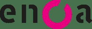 logo enoa light background black+magenta